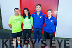 David Toomey and Rachel Stokes from Listowel with the organisers John Martin Carroll and Alison O'Connor and are ready for the run in Causeway for the 5k/10k in aid of Down Syndrome on Sunday morning