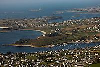 Europe/France/Bretagne/29/Finistère: Vue aérienne de l'Aber Benoit  avec en fond l'Ile Vierge
