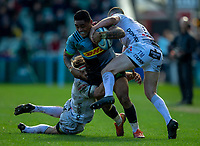 Harlequins' Francis Saili in action during todays match<br /> <br /> <br /> Photographer Bob Bradford/CameraSport<br /> <br /> Gallagher Premiership - Harlequins v Gloucester Rugby - Sunday 10th March 2019 - Twickenham Stoop - London<br /> <br /> World Copyright &copy; 2019 CameraSport. All rights reserved. 43 Linden Ave. Countesthorpe. Leicester. England. LE8 5PG - Tel: +44 (0) 116 277 4147 - admin@camerasport.com - www.camerasport.com