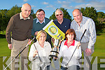 Deerpark Pitch and Putt club who are holding the Ricky Kelly memorial tournament on the 8-10 July in aid of Cystic Fibrosis front row l-r: Frances O'Sullivan Tatler Jack bar, Mary Murphy Lady Captain. Back row: Aidan O'Keeffe, Sean Kelly, Danny Looney and Derry McCarthy..