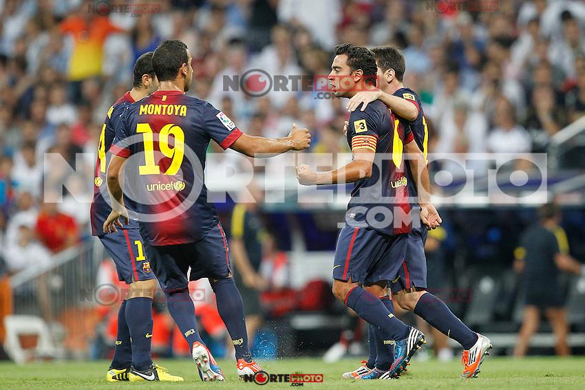 F.C. Barcelona's Lionel Messi goal during Spanish Supercup 2nd match on august 29 2012...Photo: Cesar Cebolla / ALFAQUI /NortePhoto.com<br /> <br /> **CREDITO*OBLIGATORIO** <br /> *No*Venta*A*Terceros*<br /> *No*Sale*So*third*<br /> *** No*Se*Permite*Hacer*Archivo**<br /> *No*Sale*So*third*
