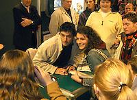 15-02-2005,Rotterdam, ABNAMROWTT ,Handtekeningensessie met Grosjean