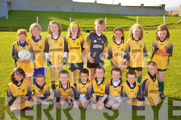 The U8 team from Derrynane made the journey into Waterville for the Blitz on Thursday evening last were front l-r; Ellie Cournane, Jamie Gleeson, Oisi?n Galvin, Keith Gleeson, Oisi?n Breen, Jim & Tom Clifford, Conaill Cournane, back l-r; Orla Feyne, Patrick O'Hehir, Marie O'Sullivan, Si?ofra O'Shea, Ben Carroll, Anna Kate Cournane, Isabel O'Leary & Clodagh Graf.