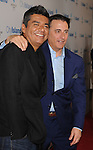 """LOS ANGELES, CA. - March 15: George Lopez and Andy Garcia arrive at the Los Angeles premiere of """"City Island"""" held at Westside Pavillion Cinemas on March 15, 2010 in Los Angeles, California."""
