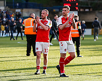 Fleetwood Town's Paddy Madden and Ashley Eastham applaud their side's travelling supporters at the end of the match <br /> <br /> Photographer Andrew Kearns/CameraSport<br /> <br /> The EFL Sky Bet League One - Wycombe Wanderers v Fleetwood Town - Saturday 4th May 2019 - Adams Park - Wycombe<br /> <br /> World Copyright © 2019 CameraSport. All rights reserved. 43 Linden Ave. Countesthorpe. Leicester. England. LE8 5PG - Tel: +44 (0) 116 277 4147 - admin@camerasport.com - www.camerasport.com
