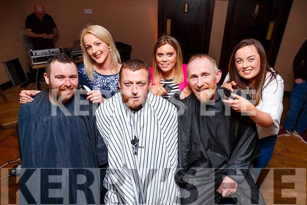 Pa Regan, Antoinette Legg, Tommy Diggin, Marguerite McCarthy, Simon Murphy and Grainne McGlynn, pictured at the Causeway Beard Festival on Saturday night last.