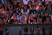 A candlelight vigil was held Wednesday May 5, 2010 at the University of Virginia in memory of former student Yeardley Love, a women's lacrosse player who was killed in her apartment earlier this week in Charlottesville, Va. George Huguely, 22, a member of UVa's nationally ranked men's lacrosse team, faces a first-degree murder charge in the slaying of Yeardley Love, also 22. (Credit Image: © Andrew Shurtleff)