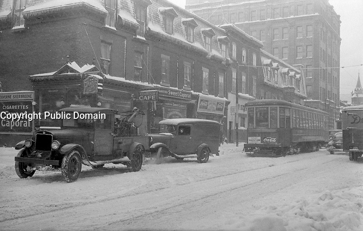1942 file photo - winter in Montreal