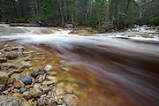 Otter Rocks day use area along the Kancamagus Scenic Byway (route 112) in the White Mountains, New Hampshire USA