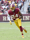 Washington Redskins cornerback Josh Norman (24) in fourth quarter action against the Philadelphia Eagles at FedEx Field in Landover, Maryland on Sunday, September 10, 2017.  The Eagles won the game 30 - 17.<br /> Credit: Ron Sachs / CNP
