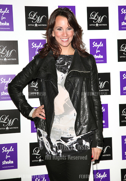 Andrea McLean arriving for the Style for Stroke Party, 5 Cavendish Square, London. 02/10/2012 Picture by: Alexandra Glen / Featureflash