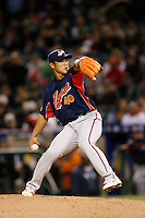 Akinori Otsuka of Japan during World Baseball Championship at Angel Stadium in Anaheim,California on March 14, 2006. Photo by Larry Goren/Four Seam Images