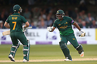 Delight for Samit Patel and Chris Read of Notts as the away side clinch victory during Essex Eagles vs Notts Outlaws, Royal London One-Day Cup Semi-Final Cricket at The Cloudfm County Ground on 16th June 2017