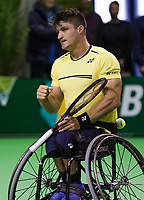 Rotterdam, The Netherlands, 14 Februari 2019, ABNAMRO World Tennis Tournament, Ahoy, Gustavo Fernandez (ARG),<br /> Photo: www.tennisimages.com/Henk Koster