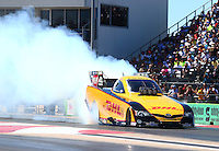 Sept. 21, 2013; Ennis, TX, USA: NHRA funny car driver Del Worsham during the Fall Nationals at the Texas Motorplex. Mandatory Credit: Mark J. Rebilas-