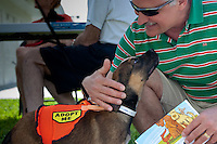It was all about fido and friends, with live music, food, pet contests and agility demonstrations at the Humane Society's 6th annual 'Bark in the Park' at Fleischmann Park, Naples, Florida, USA. April 24, 2010. Photo by Debi PIttman Wilkey