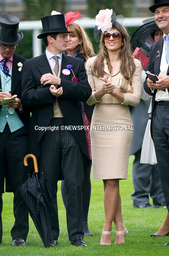 """ROYAL ASCOT 2011 LADIES DAY..Elizabeth Hurley watches her horse Census come in second in The King George V Stakes at Royal Ascot.  Royal Ascot_16/06/2011..Mandatory Photo Credit: ©Dias/Newspix International..**ALL FEES PAYABLE TO: """"NEWSPIX INTERNATIONAL""""**..PHOTO CREDIT MANDATORY!!: NEWSPIX INTERNATIONAL(Failure to credit will incur a surcharge of 100% of reproduction fees)..IMMEDIATE CONFIRMATION OF USAGE REQUIRED:.Newspix International, 31 Chinnery Hill, Bishop's Stortford, ENGLAND CM23 3PS.Tel:+441279 324672  ; Fax: +441279656877.Mobile:  0777568 1153.e-mail: info@newspixinternational.co.uk"""