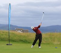 Philip Byrne (Ballybunion) on the 1st tee during the Munster Final of the AIG Junior Cup at Tralee Golf Club, Tralee, Co Kerry. 13/08/2017<br /> Picture: Golffile | Thos Caffrey<br /> <br /> <br /> All photo usage must carry mandatory copyright credit     (&copy; Golffile | Thos Caffrey)