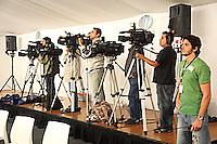 4-3-09,Argentina, Buenos Aires, Daviscup  Argentina-Netherlands, de pers is ruim aanwezig