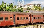 Train railway station, Galle , Sri Lanka, Asia
