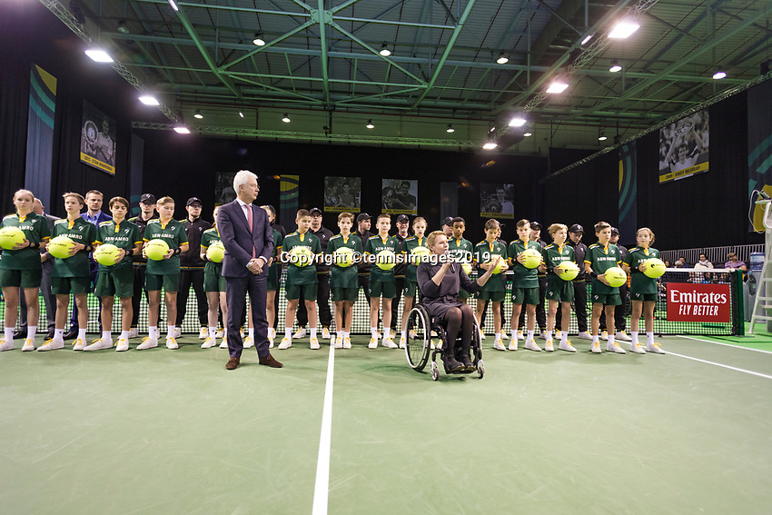 Rotterdam, The Netherlands, 14 Februari 2019, ABNAMRO World Tennis Tournament, Ahoy, Wheelchair, Final, Linesmen, Esther Vergeer,<br /> Photo: www.tennisimages.com/Henk Koster