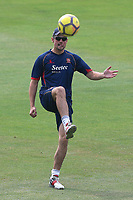 Alastair Cook of Essex warms up with some football practice during Essex CCC vs Warwickshire CCC, Specsavers County Championship Division 1 Cricket at The Cloudfm County Ground on 20th June 2017