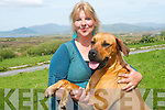 Shannon Behr who set up Animal Rescue South Kerry for abandoned or neglected animals to help find new homes for them.  Pictured with 'Shiwa'..