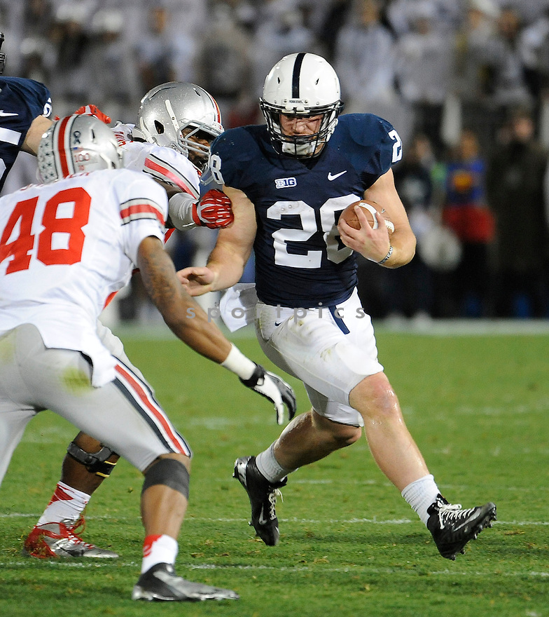 Penn State Nittany Lions Zach Zwinak (28) in action during a game against Ohio State on October 27, 2012 at Beaver Stadium in State College PA. Ohio State beat Penn State 35-23.