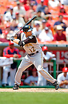 30 June 2005: Freddy Sanchez, infielder for the Pittsburgh Pirates, at bat during a game against the Washington Nationals. The Nationals defeated the Pirates 7-5 to sweep the 3-game series at RFK Stadium in Washington, DC.  Mandatory Photo Credit: Ed Wolfstein