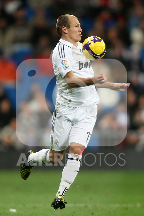 Real Madrid's Arjen Robben during La Liga match.January 25 2009. (ALTERPHOTOS/Acero).