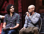 "Anthony Lee Medina and Javon McFerrin from the 'Hamilton' cast during the student Q & A before  The Rockefeller Foundation and The Gilder Lehrman Institute of American History sponsored High School student #EduHam matinee performance of ""Hamilton"" at the Richard Rodgers Theatre on 4/26/2017 in New York City."