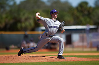 Northwestern Wildcats relief pitcher Danny Katz (18) delivers a pitch during a game against the Illinois State Redbirds on March 6, 2016 at North Charlotte Regional Park in Port Charlotte, Florida.  Illinois State defeated Northwestern 10-4.  (Mike Janes/Four Seam Images)
