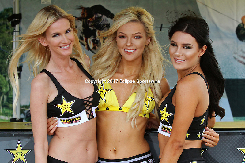 ORLANDO, FL - April 30:  Rockstar Energy Drink models. Scenes from  WWA Nautique Wake Series Open 2017 at  the Orlando Watersports Complex on April 30, 2017 in Orlando, Florida. (Photo by Liz Lamont/Eclipse Sportswire/Getty Images)