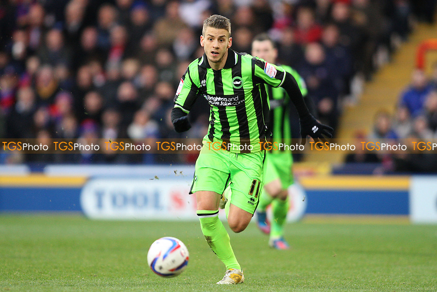 Andrea Orlandi of Brighton & Hove Albion - Crystal Palace vs Brighton & Hove Albion - NPower Championship Football at Selhurst Park, London - 01/12/12 - MANDATORY CREDIT: George Phillipou/TGSPHOTO - Self billing applies where appropriate - 0845 094 6026 - contact@tgsphoto.co.uk - NO UNPAID USE.