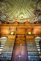 The Archdiocesan Library Eger in Lyceum, built by Count Karoly Eszterhazy with the ceiling fresco of the Tridentine council by Janos Lukacs Kracker. Eger Hungary
