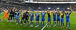 12.03.2011, Rhein-Neckar-Arena, Sinsheim, GER, 1. FBL, TSG Hoffenheim vs Borussia Dortmund, im Bild Hoffenheim feiert den 1:0 Erfolg ueber Dortmund, Foto © nph / Roth