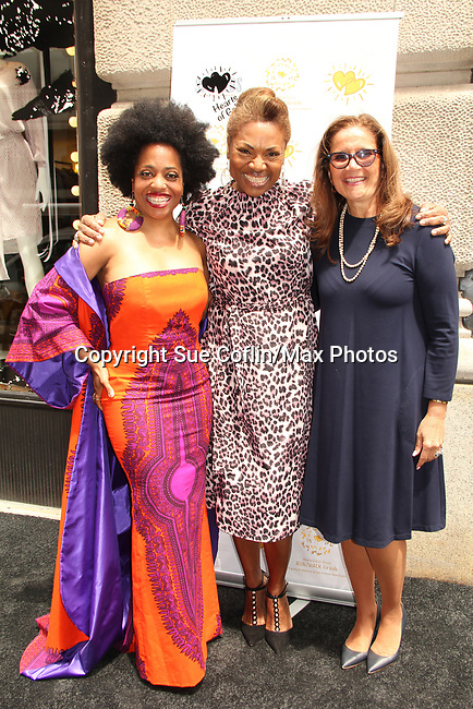- celebrating 30 years of style and twenty-five years of giving back through Hearts of Gold at a black carpet salon style spring/summer fashion show and cocktail reception on May 9, 2019 at Blanc et Noir, New York City, New York.(Photo by Sue Coflin/Max Photos)