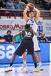 Estudiantes Adams Sola and Rosa Radom Marcin Piechowicz during Basketball Champions League between Estudiantes and Rosa Radom at Jorge Garbajosa Sport Center in Madrid, Spain October 18, 2017. (ALTERPHOTOS/Borja B.Hojas)