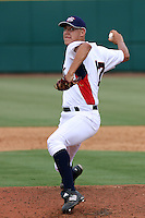 Jameson Taillon #17 of the Woodlands High School in The Woodlands, Texas pitching for the Pony League-sponsored team at the Tournament of Stars event run by USA Baseball at the USA Baseball National Training Complex in Cary, NC on June 23, 2009. Photo by Robert Gurganus/Four Seam Images