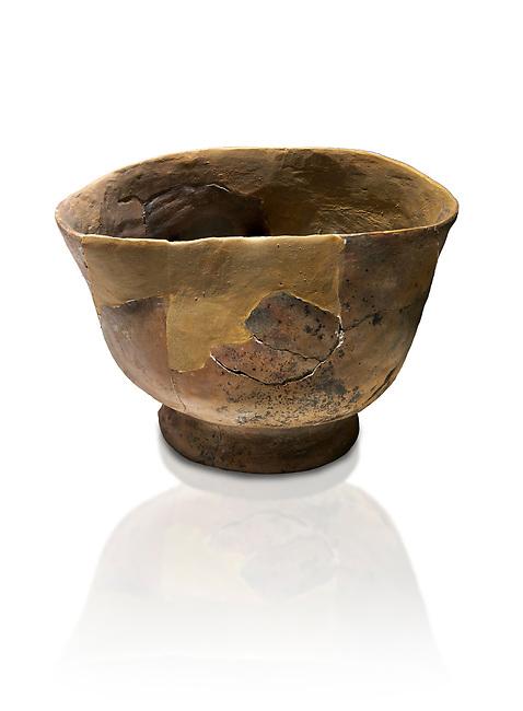 Neolithic terracotta bowl. 6000 BC. Catalhoyuk Collections. Museum of Anatolian Civilisations, Ankara