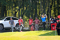 Jon Rahm (ESP) on the 16th tee during the 3rd round at the WGC HSBC Champions 2018, Sheshan Golf CLub, Shanghai, China. 27/10/2018.<br /> Picture Fran Caffrey / Golffile.ie<br /> <br /> All photo usage must carry mandatory copyright credit (&copy; Golffile | Fran Caffrey)
