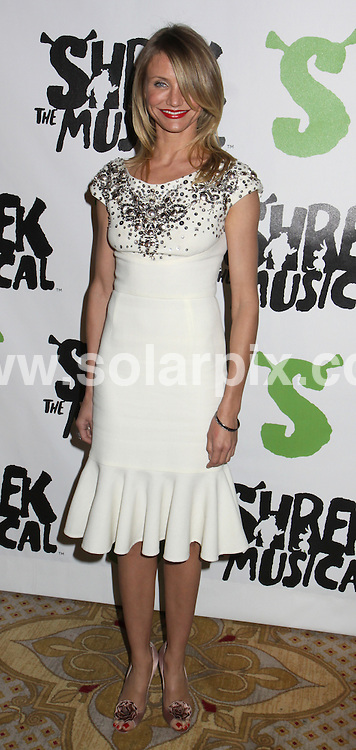 "**ALL ROUND PICTURES FROM SOLARPIX.COM**.**SYNDICATION RIGHTS FOR UK, SPAIN, PORTUGAL, AUSTRALIA, S.AFRICA & DUBAI (U.A.E) ONLY**.Cameron Diaz arrives for ""Shrek The Musical"" Broadway Opening Night after party. Held at the Plaza Hotel, New York City, NY, USA. 14th December 2008..This pic: Cameron Diaz..JOB REF: 8162 PHZ (Mayer)   DATE: 14_12_2008.**MUST CREDIT SOLARPIX.COM OR DOUBLE FEE WILL BE CHARGED* *UNDER NO CIRCUMSTANCES IS THIS IMAGE TO BE REPRODUCED FOR ANY ONLINE EDITION WITHOUT PRIOR PERMISSION*"