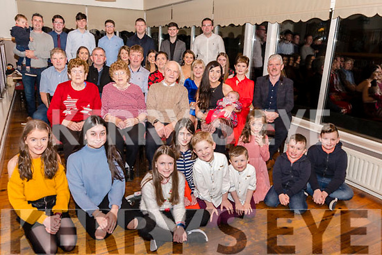 Mary & Brendan O'Sullivan celebrated their 60th Wedding Anniversary in Killorglin Golf Club on Saturday with their Family & Friends<br /> Seated in front L-R Mary's sister Nora Foley, Mary & Brendan O'Sullivan surrounded by 3 generations of family Members.<br /> <br /> Attn Breda<br /> Contact: Siobhan Doyle 087 9241 868