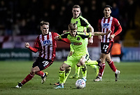 Bolton Wanderers' Ronan Darcy competing with Lincoln City's Jake Hesketh (left) <br /> <br /> Photographer Andrew Kearns/CameraSport<br /> <br /> The EFL Sky Bet League One - Lincoln City v Bolton Wanderers - Tuesday 14th January 2020  - LNER Stadium - Lincoln<br /> <br /> World Copyright © 2020 CameraSport. All rights reserved. 43 Linden Ave. Countesthorpe. Leicester. England. LE8 5PG - Tel: +44 (0) 116 277 4147 - admin@camerasport.com - www.camerasport.com