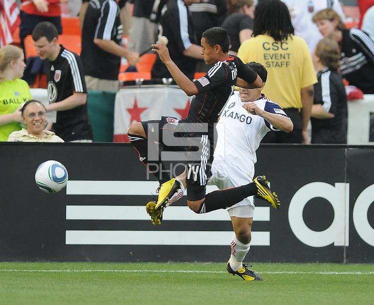 DC United midfielder Andy Najar (14)   DC United and Real Salt Lake tied 0-0 at RFK Stadium, Wednesday  June 2  2010.