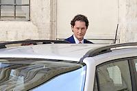 Roma, 25 Luglio 2014<br /> Il presidente del Consiglio Matteo Renzi ha ricevuto oggi a Palazzo Chigi l'AD di Fiat Sergio Marchionne e il presidente John Elkann, che hanno presentato al premier la nuova Jeep Renegade. <br /> Nella foto John Elkann.<br /> Fiat, Elkann and Marchionne have to Renzi new Jeep Renegade. <br /> <br /> Rome, July 25, 2014 <br /> The President of the Council Matteo Renzi received today at Palazzo Chigi, the CEO of Fiat, Sergio Marchionne and Chairman John Elkann, who presented to the premier the new Jeep Renegade.