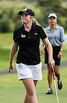 Amelia Garvey celebrates winning the Autex Muriwai Open, Muriwai Golf Club, Auckland, Sunday 1 May 2016. Photo: Simon Watts/www.bwmedia.co.nz