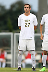 12 September 2014: Pitt's Kevin Fielden. The University of North Carolina Tar Heels hosted the Pittsburgh University Panthers at Fetzer Field in Chapel Hill, NC in a 2014 NCAA Division I Men's Soccer match. North Carolina won the game 3-0.