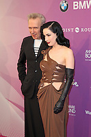 """Jean Paul Gaultier and Dita von Teese attending the """"Duftstars 2012 - German Perfume Award"""" held at the Tempodrom in Berlin, Germany, 04.05.2012..Credit: Semmer/face to face /MediaPunch Inc. ***FOR USA ONLY***"""