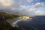 Photo shows Bird Island from the lookout point on the northeast coast of Saipan. It is possible to walk over to the island, which is a bird sanctuary, at low tide..Robert Gilhooly Photo